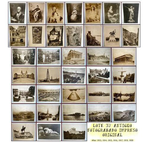 dante42 lote 37 antiguo fotograbado impreso original 1913