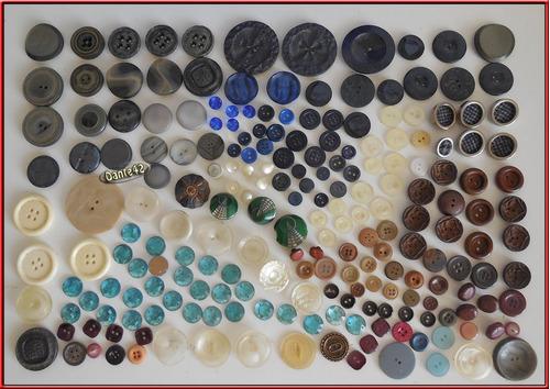 dante42 lote 768 botones antiguo plastic madera vidrio metal
