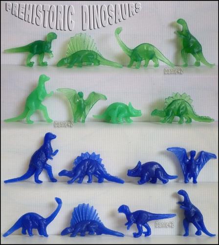 dante42 muñecos miniaturas pack 16 dinosaurios prehistoricos