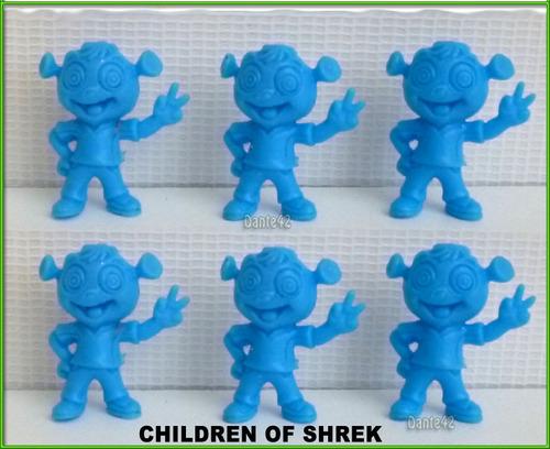 dante42 pack 06 muñecos miniaturas hijos de shrek