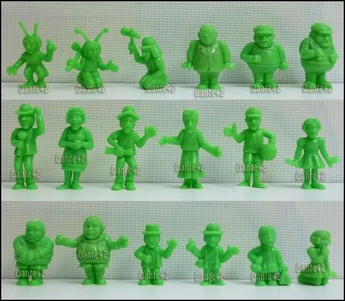 dante42 pack 18 muñecos chavo del ocho de coleccion verde