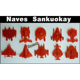 Dante42 Sankuokai Pack 10 Naves Espacial Color Rojo