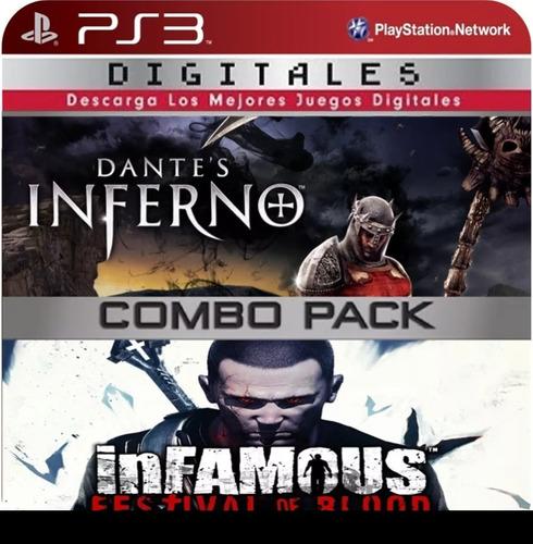 dante's inferno + infamous ps3 (11gb) - no codigo