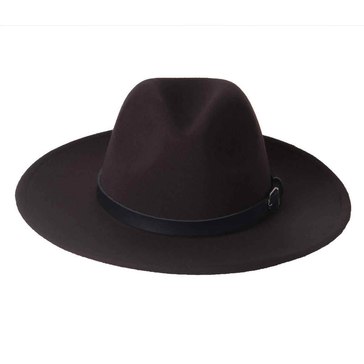 1aa1e1836f5 dantiya women s wide brim wool fedora panama hat con belt... Cargando zoom.