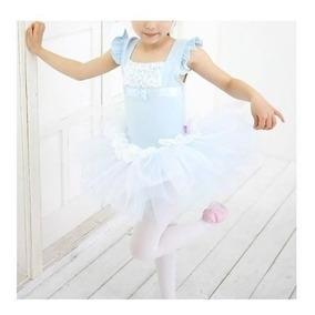 c51c56de9 Danza Ballet Princesa Rosa Celeste Tutu Malla Pollera