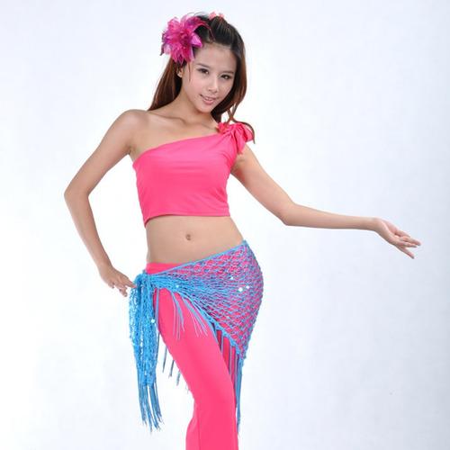 danza de vientre cadera scraf falda de correa para vestido
