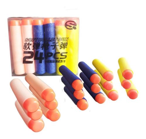 dardos nerf lanzadores juguete repuesto set x24 juguetería