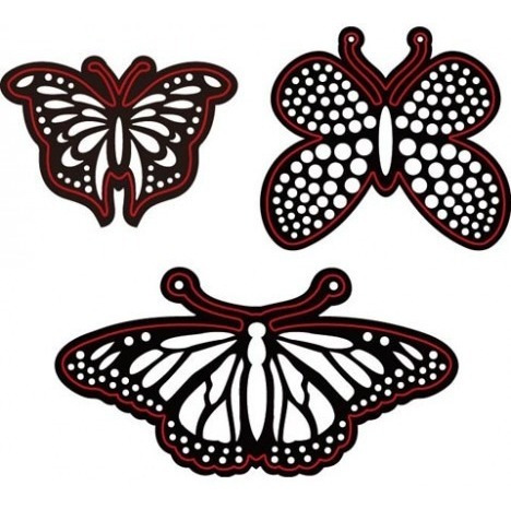 darice® craft dies: butterflies die cut shapes