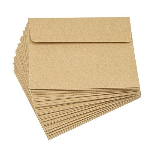 darice liso a2 sobres, 4.375 x 5,75 pulgadas, kraft, 50-pack