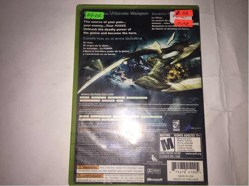 dark sector xbox 360 (cementerio de los videojuegos retro gd