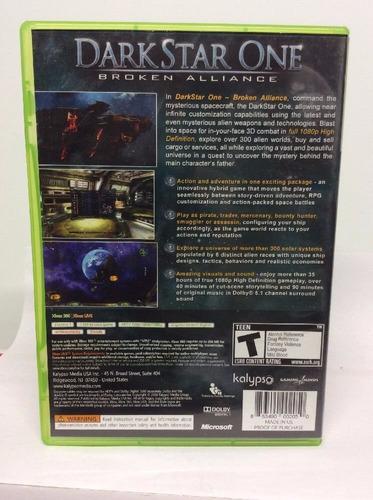 dark star one broken alliance xbox 360 + envio gratis
