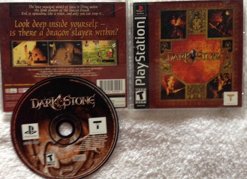 dark stone - black cover completo / playstation 1 ps1 ps2 ps