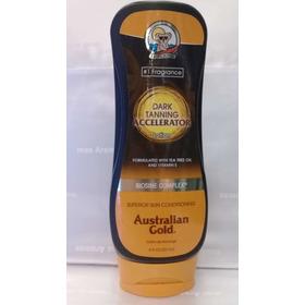 Dark Tanning Accelerator Lotion Bronzer Australian Gold 8 Oz