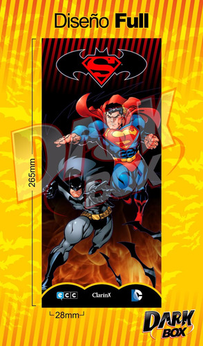 darkbox estuche batman / superman de clarin ecc dc comics