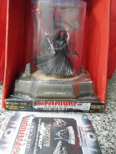 darth maul star wars die cast metal  impecable hasbro