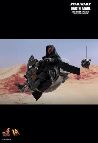 darth maul with sith speeder star wars hot toys
