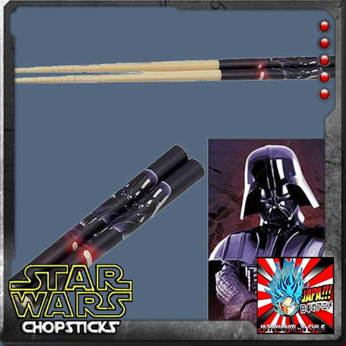darth vader palitos star wars bamboo chopsticks skatte nuevo
