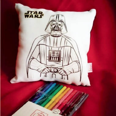 Darth Vader Star Wars Almofada P Colorir 12 Canetinhas R
