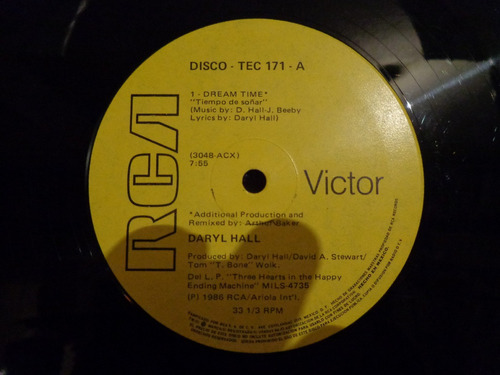 daryl hall dreamtime 12  maxi disco vinil acetato john oates