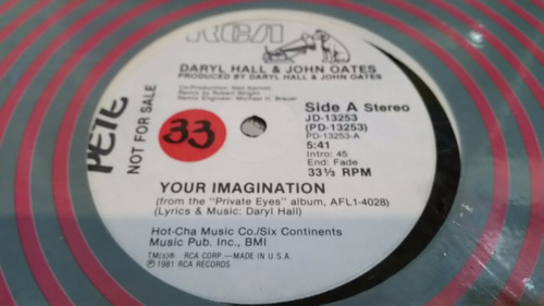 daryl hall john oates your imagination vinilo maxi promo