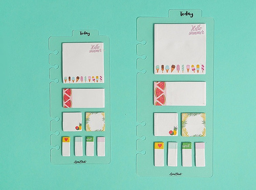 dash board a5 com post-its love doki - lindas, para planner