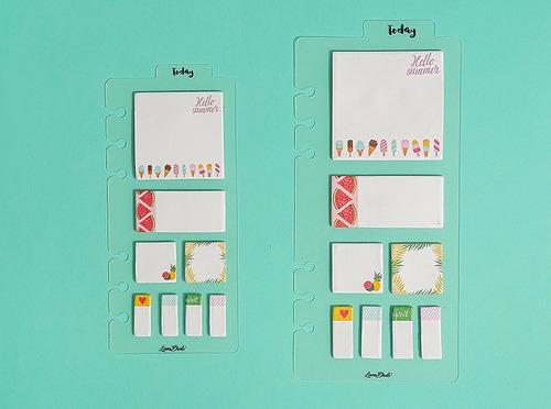 dash board a6 com post-its love doki - lindas, para planner