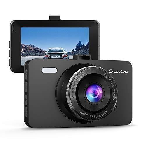 WDR Dash Cam Crosstour 1080P Car DVR Dashboard Camera Full HD with 3 LCD Screen 170/°Wide Angle Crosstour 1080P Car DVR Dashboard Camera Full HD with 3 LCD Screen 170/°Wide Angle CR300 Loop Recording and Motion Detection G-Sensor