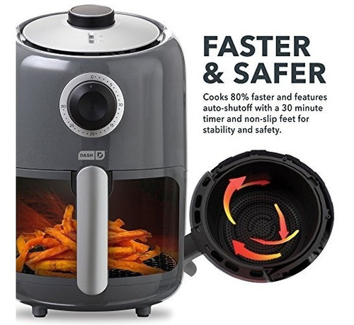 dash compact air fryer 12 l freidora eléctrica horno cocina