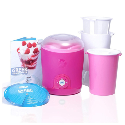 dash dgy001pk greek yogurt maker pink maquina yogur griego