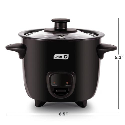dash drcm200bk mini cocina de arroz, color negro