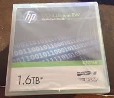 data cartridge (cinta) marca hp lto-4 1.6tb ultrium rw.