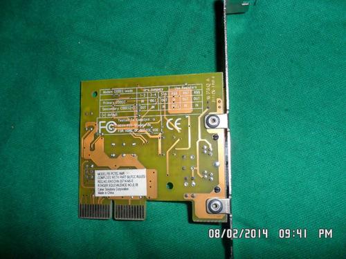data fax/modem  amr fb pctel amr v1.2 micro modem