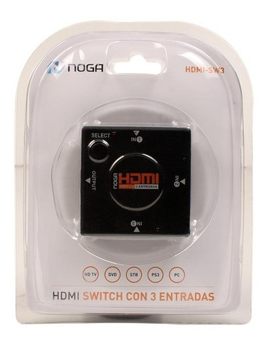 data switch hdmi noganet 3 hdmi in 1 hdmi-sw3 manual 1080p
