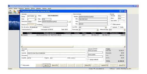 datafox punto de venta 4 - control de ventas de su negocio