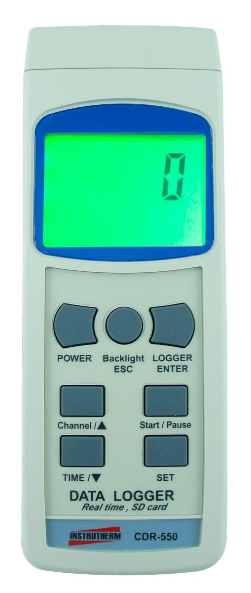 Datalogger Cdr-550 Digital Com Cartão Sd E Interface Rs-232