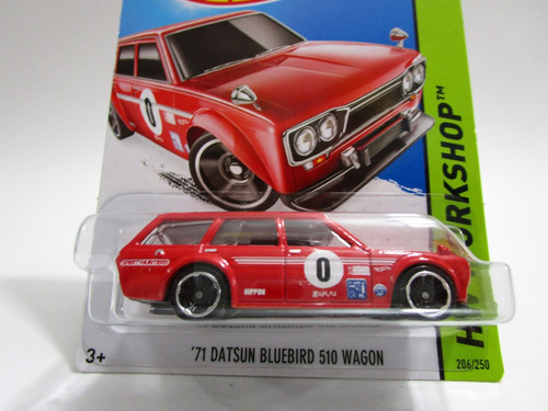 datsun bluebird wagon escala 1/64 coleccion hot wheels