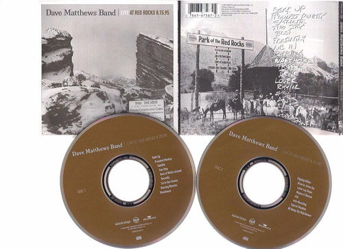 dave matthews-  live at red rocks 8.15.95 - 2 cd - by maceo