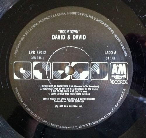 david and david boomtown lp vinyl  raro exc estado