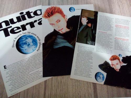 david bowie - páginas e matérias de revistas