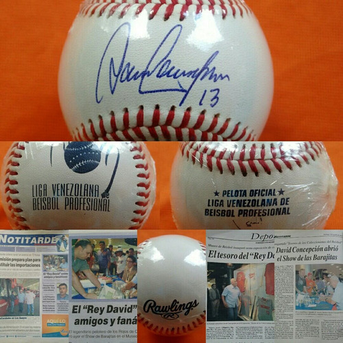 david concepción pelota rawlings autografiada