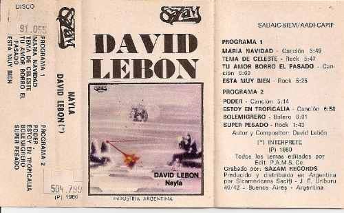 david lebon - nayla - cassette -1980