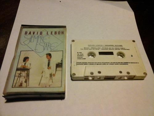 david lebon siempre estare cassette nacional