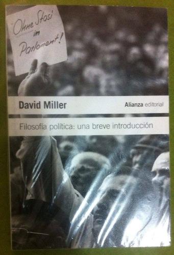 david miller filosofía política: una breve introducción