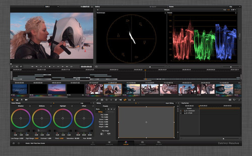davinci resolve 11.1 edicion y efectos video mac osx