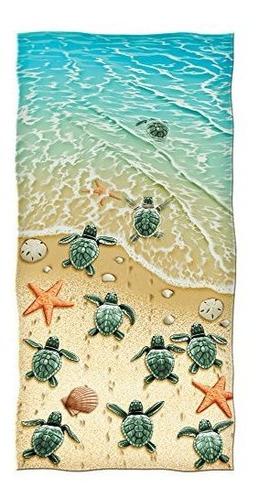 dawhud tortugas directas en la playa toalla playera de algod