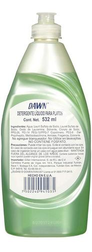 dawn lavatrastes platinum power clean, liquido 532 ml 18 oz