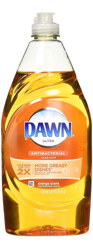 dawn lavatrastes ultra antibacterial, aroma naranja 638 ml
