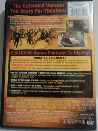 dawn of the dead amanecer d los muertos zombi r1 dvd usado