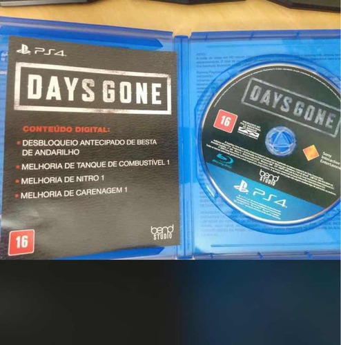 days gone mídia física - ps4 lacrado  pronto entrega + nf