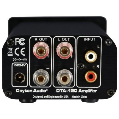 dayton audio dta-120 clase t digital mini amplificador 60 wp